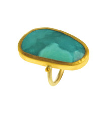 Mystery Opal Gold Ring - New Arrival