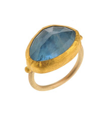Oceansky Aquamarine Gold Ring by Nava Zahavi - New Arrival