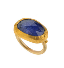 Royal Tanzanite Gold Ring by Nava Zahavi - New Arrival