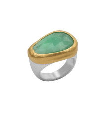 Mint Green Ring by Nava Zahavi - New Arrival
