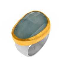 Miamor Aquamarine Ring by Nava Zahavi - New Arrival