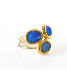 Stackable Opal Gold Rings by Nava Zahavi - New Arrival