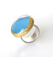 Blue Moon Chalcedony Ring by Nava Zahavi - New Arrival