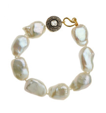 Jambu Pearl and Diamond Bracelet - New Arrival