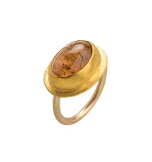 Cats Eye Tourmaline Gold Ring by Nava Zahavi - New Arrival