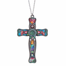 Ayala Bar God We Trust Large Cross Pendant Necklace