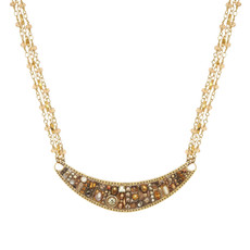 Michal Golan Citrine Large Crescent Necklace