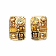 Michal Golan Citrine Rectangle Post Earrings