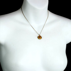 Michal Golan Citrine Small Round Pendant on Chain