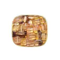 Michal Golan Citrine Square Pin