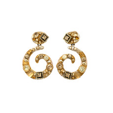 Michal Golan Citrine Swirl Post Earrings