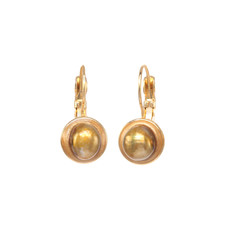 Michal Golan Citrine Tiny Gold Earrings