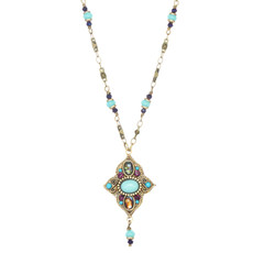 Michal Golan Kasbah Secret Flower Dangle Necklace
