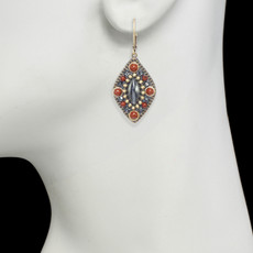 Red Michal Golan Jewelry Canyon Style Earrings