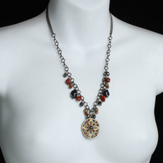 Red Canyon style necklace by Michal Golan Jewelry