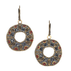 Michal Golan Canyon Open Circle Wire Earrings