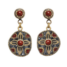Michal Golan Canyon Round Flower Post Earrings