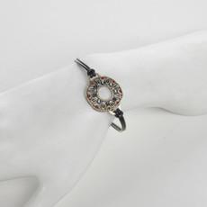 Michal Golan Canyon Open Circle Leather Bracelet