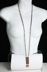 Michal Golan Canyon Long Rectangle Necklace