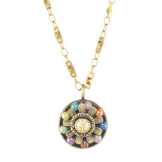 Michal Golan Dark Flower Pendant