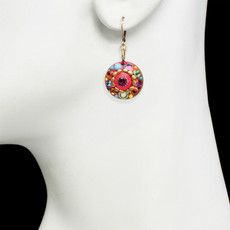 Michal Golan Neon Pink Flower Earrings
