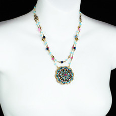 Michal Golan Zinnia Flower Necklace