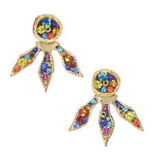 Michal Golan Michal Golan Cosmic 2 Part Flower Earrings