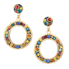Michal Golan Cosmic Large Open Circle Post Earrings