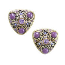 Purple Lilac style earrings by Michal Golan Jewelry