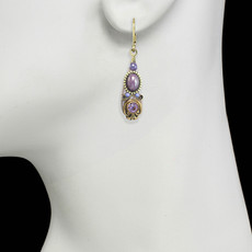 Michal Golan Lilac Drop Earrings
