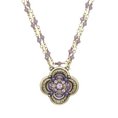 Michal Golan Michal Golan Lilac Flower Pendant Necklace