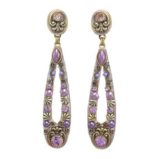Michal Golan Michal Golan Lilac Long Open Earrings