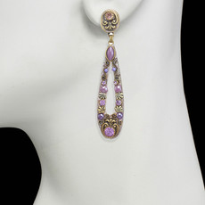 Michal Golan Lilac Long Open Earrings