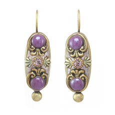 Michal Golan Michal Golan Lilac Long Oval Earrings