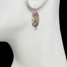 Michal Golan Lilac Long Oval Earrings