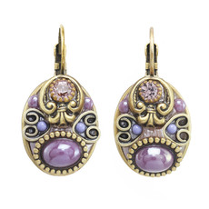 Michal Golan Michal Golan Lilac Oval Earrings
