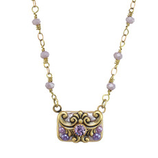 Michal Golan Michal Golan Lilac Rectangle Necklace