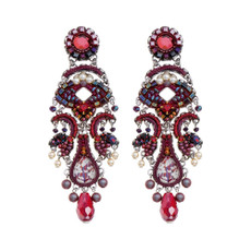 Ayala Bar Ruby Tuesday Scarlet Smile Earrings - New Arrival