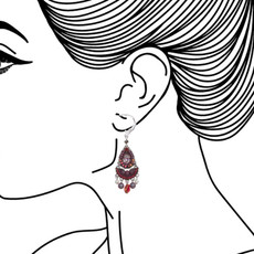 Ayala Bar Ruby Tuesday French Wire Earrings - New Arrival