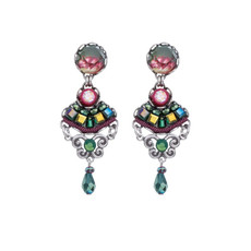 Ayala Bar Summer Lawns Royal Green Earrings - New Arrival