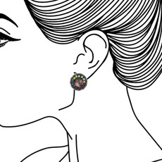 Ayala Bar Summer Lawns Cute as a Button Earrings - New Arrival