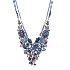 Ayala Bar Sapphire Rain Peacock Necklace - New Arrival