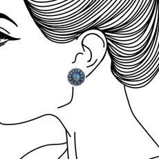 Ayala Bar Sapphire Rain Cute as a Button Earrings - New Arrival