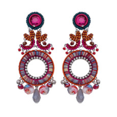 Ayala Bar Crimson Voyage Colorful World Earrings - New Arrival