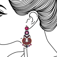 Ayala Bar Crimson Voyage Flamenco Earrings - New Arrival