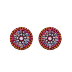 Ayala Bar Crimson Voyage Cute as a Button Earrings - New Arrival