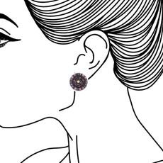Ayala Bar Nightime Stories Cute as a Button Earrings