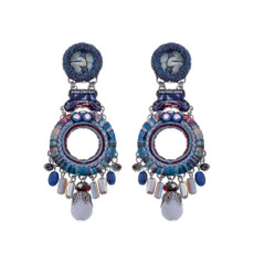 Ayala Bar Ethereal Presence Orchid Picking Earrings - New Arrival
