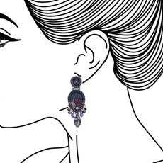 Ayala Bar Ethereal Presence Purple Rain Earrings - New Arrival