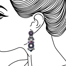 Ayala Bar Ethereal Presence Amethyst Earrings - New Arrival